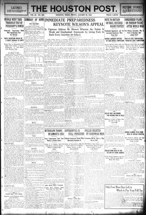 Primary view of object titled 'The Houston Post. (Houston, Tex.), Vol. 30, No. 300, Ed. 1 Friday, January 28, 1916'.
