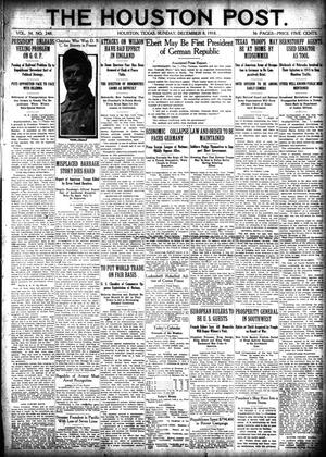 Primary view of object titled 'The Houston Post. (Houston, Tex.), Vol. 34, No. 248, Ed. 1 Sunday, December 8, 1918'.