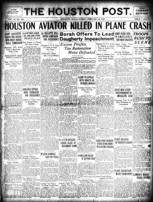 Primary view of object titled 'The Houston Post. (Houston, Tex.), Vol. 39, No. 326, Ed. 1 Sunday, February 24, 1924'.