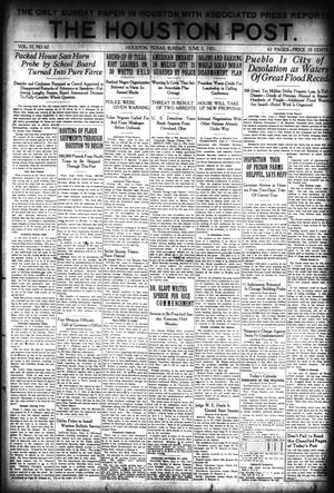 Primary view of object titled 'The Houston Post. (Houston, Tex.), Vol. 37, No. 62, Ed. 1 Sunday, June 5, 1921'.