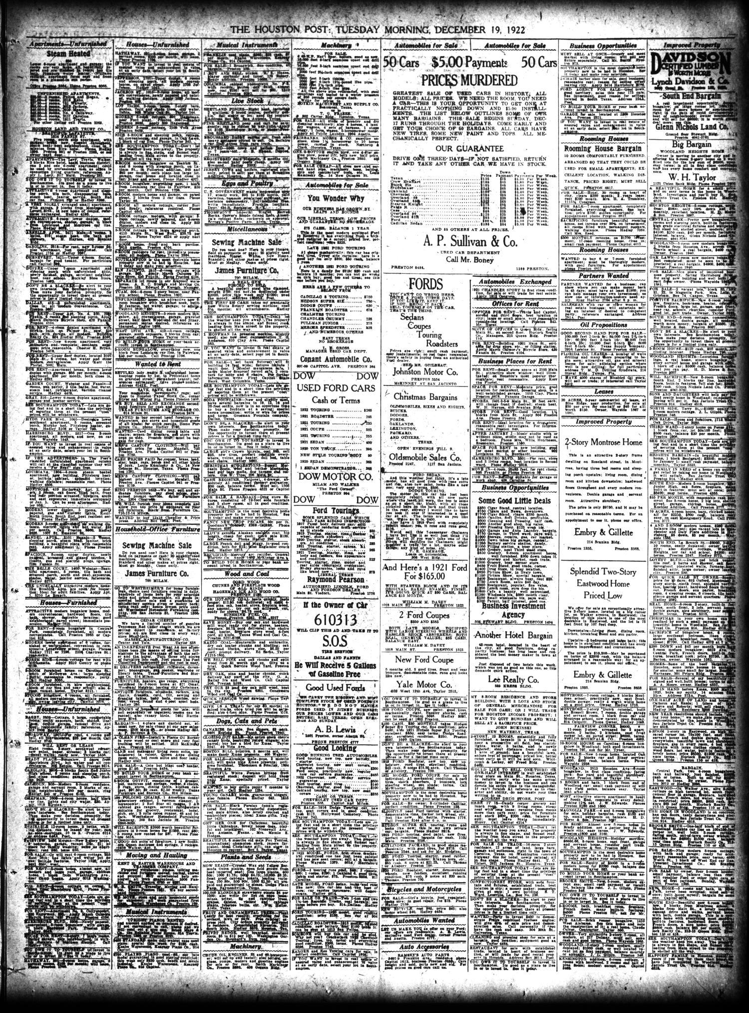 The Houston Post  (Houston, Tex ), Vol  38, No  259, Ed  1