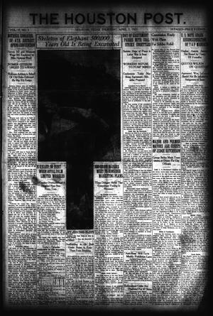 Primary view of object titled 'The Houston Post. (Houston, Tex.), Vol. 37, No. 3, Ed. 1 Thursday, April 7, 1921'.