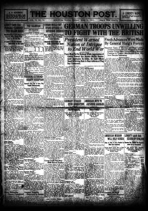 Primary view of object titled 'The Houston Post. (Houston, Tex.), Vol. 33, No. 72, Ed. 1 Friday, June 15, 1917'.