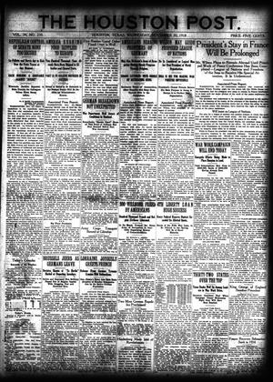 Primary view of object titled 'The Houston Post. (Houston, Tex.), Vol. 34, No. 230, Ed. 1 Wednesday, November 20, 1918'.