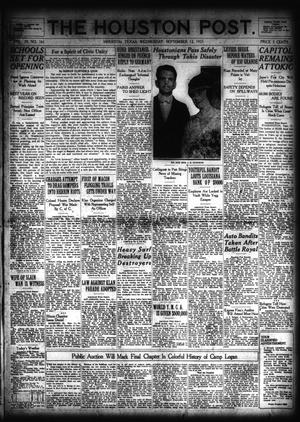 Primary view of object titled 'The Houston Post. (Houston, Tex.), Vol. 39, No. 161, Ed. 1 Wednesday, September 12, 1923'.