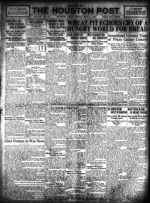Primary view of object titled 'The Houston Post. (Houston, Tex.), Vol. 33, No. 39, Ed. 1 Sunday, May 13, 1917'.