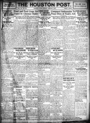 Primary view of object titled 'The Houston Post. (Houston, Tex.), Vol. 31, No. 279, Ed. 1 Monday, January 8, 1917'.