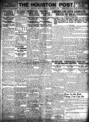 Primary view of object titled 'The Houston Post. (Houston, Tex.), Vol. 33, No. 332, Ed. 1 Saturday, March 2, 1918'.