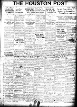 Primary view of object titled 'The Houston Post. (Houston, Tex.), Vol. 37, No. 254, Ed. 1 Wednesday, December 14, 1921'.