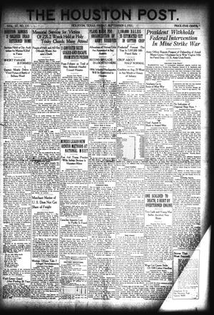 Primary view of object titled 'The Houston Post. (Houston, Tex.), Vol. 37, No. 151, Ed. 1 Friday, September 2, 1921'.