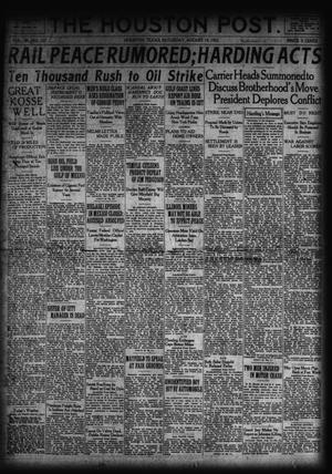 Primary view of object titled 'The Houston Post. (Houston, Tex.), Vol. 38, No. 137, Ed. 1 Saturday, August 19, 1922'.