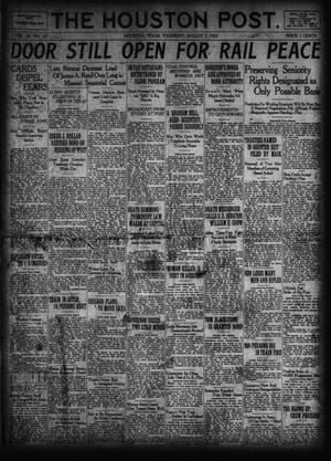 Primary view of object titled 'The Houston Post. (Houston, Tex.), Vol. 38, No. 121, Ed. 1 Thursday, August 3, 1922'.