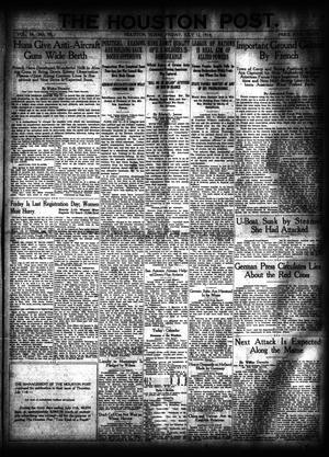 Primary view of object titled 'The Houston Post. (Houston, Tex.), Vol. 34, No. 99, Ed. 1 Friday, July 12, 1918'.