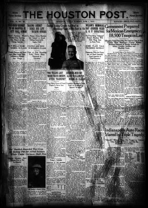 Primary view of object titled 'The Houston Post. (Houston, Tex.), Vol. 35, No. 58, Ed. 1 Sunday, June 1, 1919'.