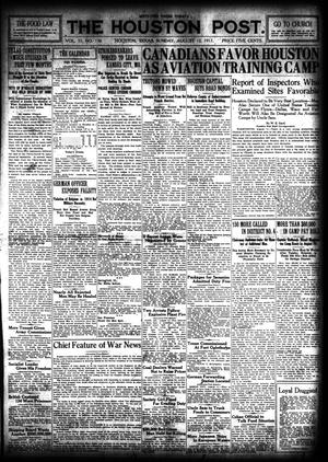 Primary view of object titled 'The Houston Post. (Houston, Tex.), Vol. 33, No. 130, Ed. 1 Sunday, August 12, 1917'.