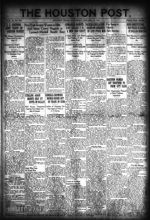Primary view of object titled 'The Houston Post. (Houston, Tex.), Vol. 36, No. 287, Ed. 1 Saturday, January 15, 1921'.