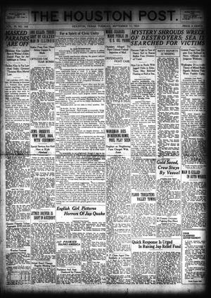Primary view of object titled 'The Houston Post. (Houston, Tex.), Vol. 39, No. 160, Ed. 1 Tuesday, September 11, 1923'.