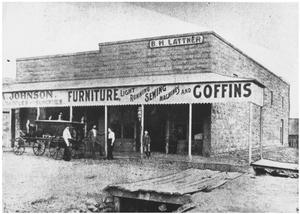 [Three Old-Time Stores]