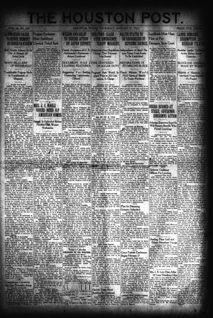 Primary view of object titled 'The Houston Post. (Houston, Tex.), Vol. 36, No. 299, Ed. 1 Thursday, January 27, 1921'.