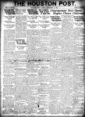 Primary view of object titled 'The Houston Post. (Houston, Tex.), Vol. 37, No. 223, Ed. 1 Sunday, November 13, 1921'.