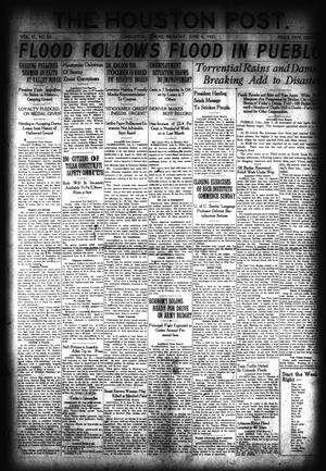Primary view of object titled 'The Houston Post. (Houston, Tex.), Vol. 37, No. 63, Ed. 1 Monday, June 6, 1921'.