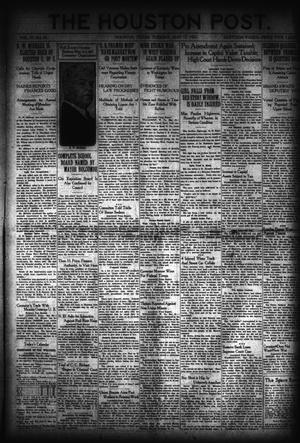 Primary view of object titled 'The Houston Post. (Houston, Tex.), Vol. 37, No. 43, Ed. 1 Tuesday, May 17, 1921'.