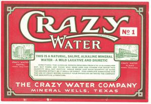 Primary view of object titled 'Crazy Water'.