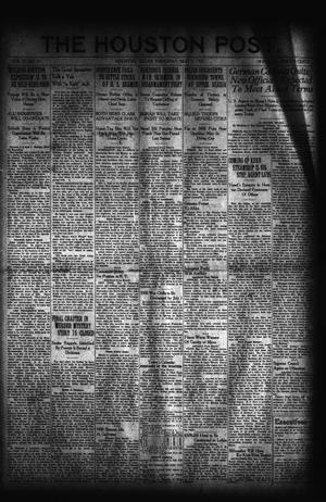 Primary view of object titled 'The Houston Post. (Houston, Tex.), Vol. 37, No. 31, Ed. 1 Thursday, May 5, 1921'.