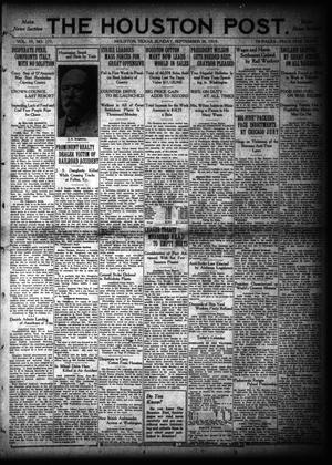 Primary view of object titled 'The Houston Post. (Houston, Tex.), Vol. 35, No. 177, Ed. 1 Sunday, September 28, 1919'.