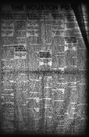Primary view of object titled 'The Houston Post. (Houston, Tex.), Vol. 37, No. 30, Ed. 1 Wednesday, May 4, 1921'.