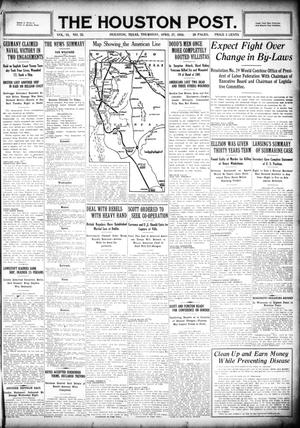 Primary view of object titled 'The Houston Post. (Houston, Tex.), Vol. 31, No. 23, Ed. 1 Thursday, April 27, 1916'.