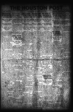 Primary view of object titled 'The Houston Post. (Houston, Tex.), Vol. 37, No. 39, Ed. 1 Friday, May 13, 1921'.