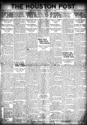 Primary view of object titled 'The Houston Post. (Houston, Tex.), Vol. 37, No. 92, Ed. 1 Tuesday, July 5, 1921'.