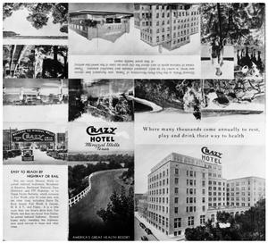 Primary view of object titled '[A Crazy Hotel Brochure]'.