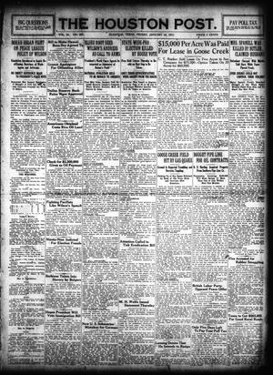 Primary view of object titled 'The Houston Post. (Houston, Tex.), Vol. 31, No. 297, Ed. 1 Friday, January 26, 1917'.