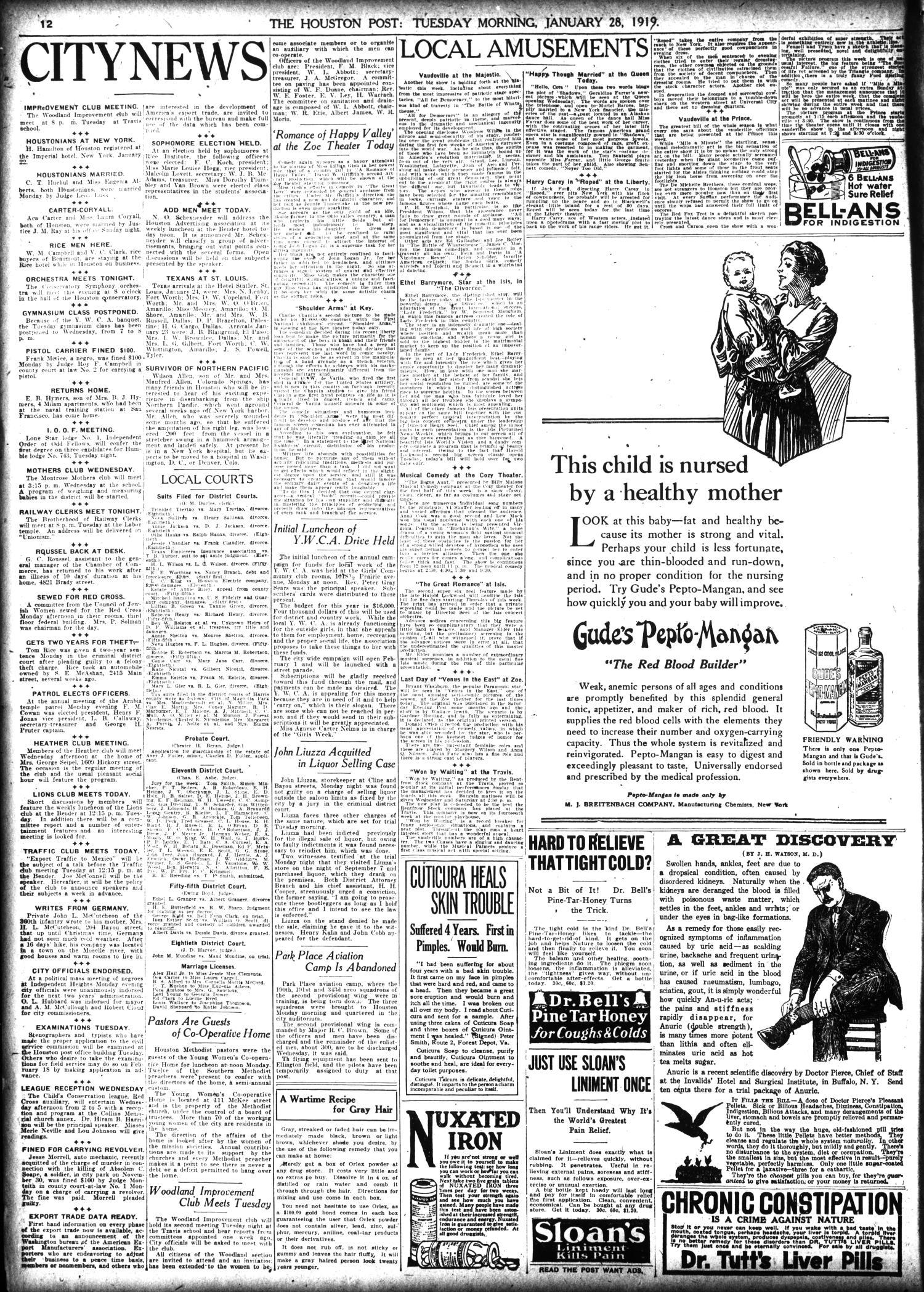 The Houston Post  (Houston, Tex ), Vol  34, No  299, Ed  1