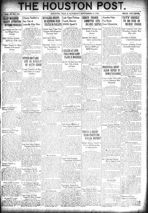 Primary view of object titled 'The Houston Post. (Houston, Tex.), Vol. 37, No. 166, Ed. 1 Saturday, September 17, 1921'.