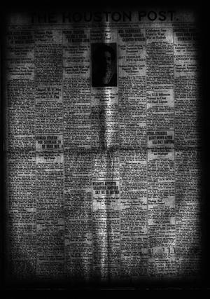 Primary view of object titled 'The Houston Post. (Houston, Tex.), Vol. 35, No. 187, Ed. 1 Wednesday, October 8, 1919'.