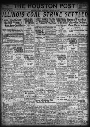 Primary view of object titled 'The Houston Post. (Houston, Tex.), Vol. 38, No. 141, Ed. 1 Wednesday, August 23, 1922'.