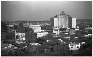 Primary view of object titled '[A View of the Baker Hotel]'.