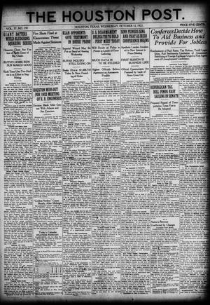 Primary view of object titled 'The Houston Post. (Houston, Tex.), Vol. 37, No. 191, Ed. 1 Wednesday, October 12, 1921'.