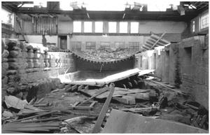 Primary view of object titled '[The  Demolition of the Convention Hall:  Interior, 3 of 5]'.
