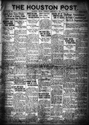 Primary view of object titled 'The Houston Post. (Houston, Tex.), Vol. 37, No. 330, Ed. 1 Tuesday, February 28, 1922'.