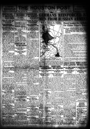 Primary view of object titled 'The Houston Post. (Houston, Tex.), Vol. 33, No. 79, Ed. 1 Friday, June 22, 1917'.