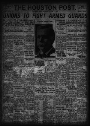 Primary view of object titled 'The Houston Post. (Houston, Tex.), Vol. 38, No. 124, Ed. 1 Sunday, August 6, 1922'.