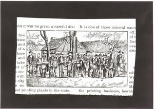Primary view of object titled '[An Engraving of a Crowd of Men]'.