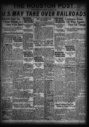 Primary view of object titled 'The Houston Post. (Houston, Tex.), Vol. 38, No. 144, Ed. 1 Saturday, August 26, 1922'.