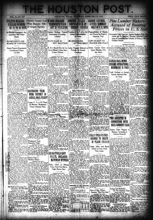 Primary view of object titled 'The Houston Post. (Houston, Tex.), Vol. 36, No. 327, Ed. 1 Thursday, February 24, 1921'.