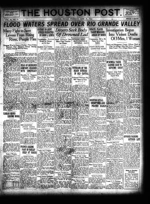 Primary view of object titled 'The Houston Post. (Houston, Tex.), Vol. 38, No. 77, Ed. 1 Tuesday, June 20, 1922'.