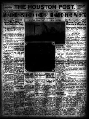 Primary view of object titled 'The Houston Post. (Houston, Tex.), Vol. 39, No. 281, Ed. 1 Thursday, January 10, 1924'.